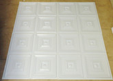 D112 White Glossy - Lot of 16 pcs - PVC Glue Up Ceiling Tiles