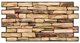 "3D Wall Panel PVC, 38.69""x19.69"", Natural Stone, Lot of 4"