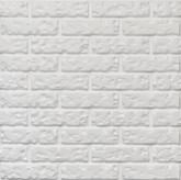 "3D Wall Panel Styrofoam, 23.6""x23.6"", Bricks, Set of 6"