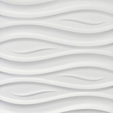 "3D Wall Panel Styrofoam, 23.6""x23.6"", Ocean, Set of 6"