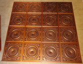 D117 Antique Copper - Lot of 19 pcs - PVC Glue Up Ceiling Tiles