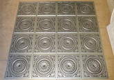 D117 Antique Silver - Lot of 11 pcs - PVC Glue Up Ceiling Tiles