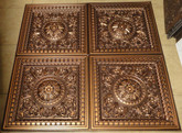D215 Antique Copper - Lot of 25 pcs - PVC Drop In Ceiling Tiles