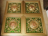 D215 Gold Green Red - Lot of 18 pcs - PVC Drop In Ceiling Tiles