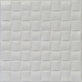 "R35 - Old Design - Plain White Styrofoam Glue Up Ceiling Tile 20""x20"" - AS IS"