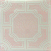 "R28 White Pink Printed Styrofoam Glue Up Ceiling Tile 20""x20"" - AS IS"