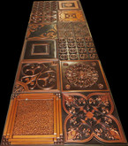Photography Backdrop Mix of Copper PVC tiles 12 PCS