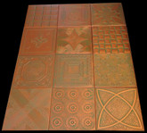 Photography backdrop collage Mix of Various Ceiling Tiles Lot of 12 - Copper Patina