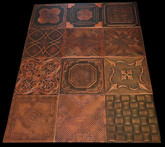 Photography backdrop collage Mix of Various Ceiling Tiles Lot of 12 - Black Copper