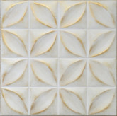 "R3 Washed Gold Styrofoam Glue Up Ceiling Tile 20""x20"""