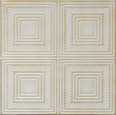 "R11 Washed Gold Styrofoam Glue Up Ceiling Tile 20""x20"""
