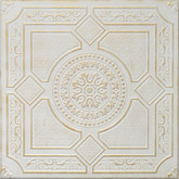 "R30 Washed Gold Styrofoam Glue Up Ceiling Tile 20""x20"""