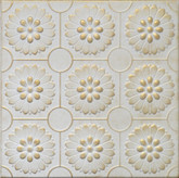 "R36 Washed Gold Styrofoam Glue Up Ceiling Tile 20""x20"""