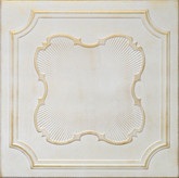 "R37 Washed Gold Styrofoam Glue Up Ceiling Tile 20""x20"""