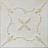 "R38 Washed Gold Styrofoam Glue Up Ceiling Tile 20""x20"""