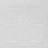 "R22 Ultra Pure White BEHR Styrofoam Glue Up Ceiling Tile 20""x20"""