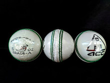 ACC Test Star 5 oz Cricket Ball - White  Yth