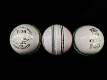 HS T/20 White Cricket Ball - 5.5 oz
