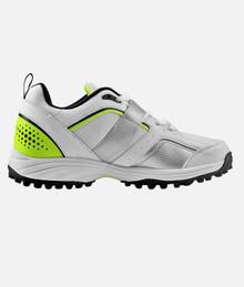 HS Core 7 Cricket Rubber Studs Shoes' Wht/Lime