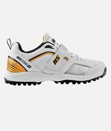 HS Core 7 Cricket Rubber Studs Shoes' Wht/Gold