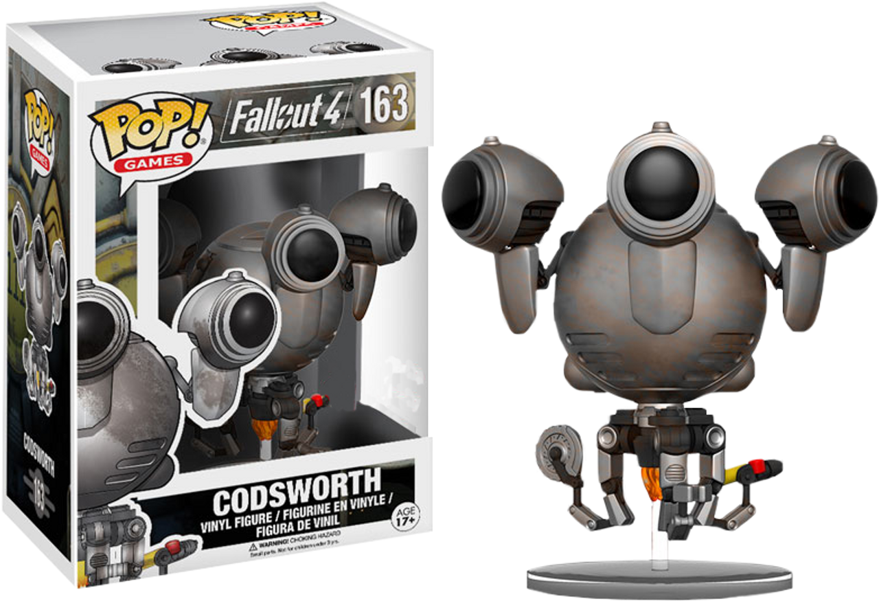 Fallout 4 Codsworth Rusted Us Exclusive Pop Vinyl Figure