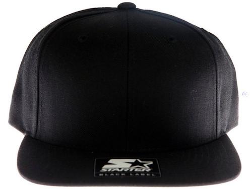 Plain Blank Black Starter Snapback Hat Kct Streetwear