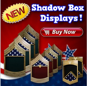 Military Retirement Shadow Boxes And Picture Frames