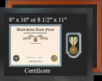 Armed Forces Reserve Service Medal Certificate Frame-Horizontal