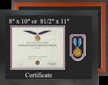 Humanitarian Service Medal Certificate Frame-Horizontal
