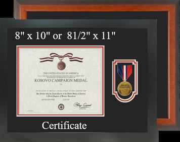 Kosovo Campaign Medal Certificate Frame-Horizontal