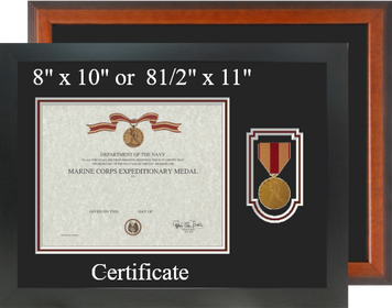 Marine Corps Expeditionary Medal Certificate Frame-Horizontal