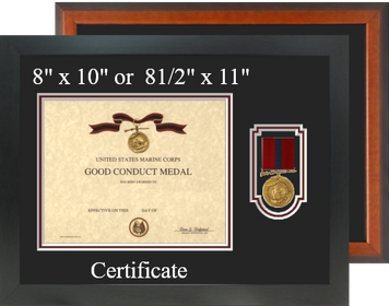 Marine Corps Good Conduct Medal Certificate Frame-Horizontal