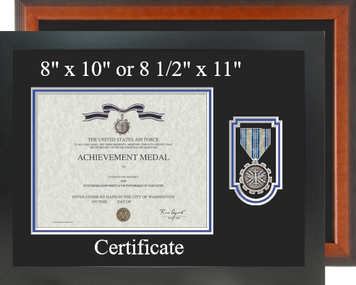 Air Force Achievement Medal Certificate Frame-Horizontal