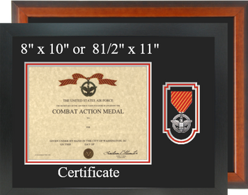 Air Force Combat Action Medal Certificate Frame-Horizontal
