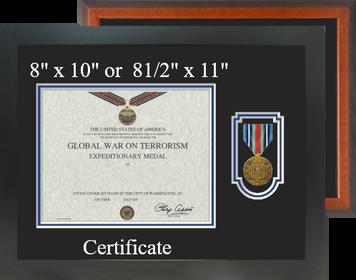 Global War on Terrorism Expeditionary Medal Certificate Frame-Horizontal