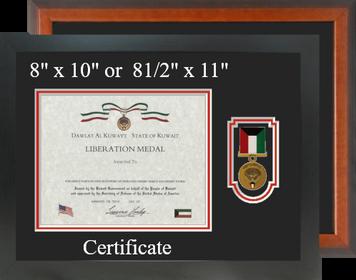 Kuwait Liberation Certificate Frame-Horizontal