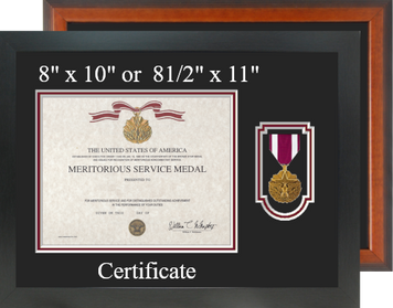 Meritorious Service Certificate Frame-Horizontal