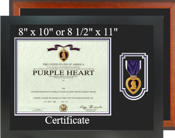 Purple Heart Certificate Frame-Horizontal