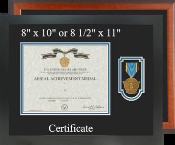 Air Force Aerial Achievement Certificate Frame-Horizontal