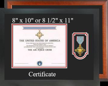 Air Force Cross Certificate Frame-Horizontal