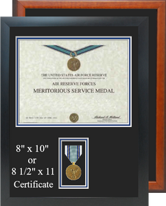 Air Reserve Forces Meritorious Service Certificate Frame
