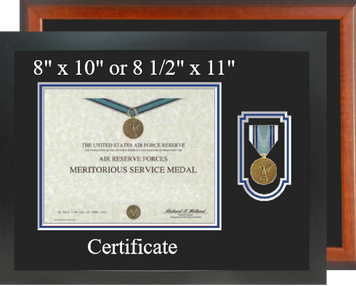 Air Reserve Forces Meritorious Service Certificate Frame-Horizontal