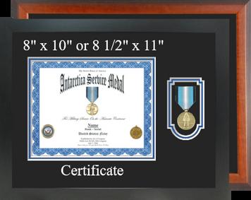 Antarctica Service Certificate Frame-Horizontal