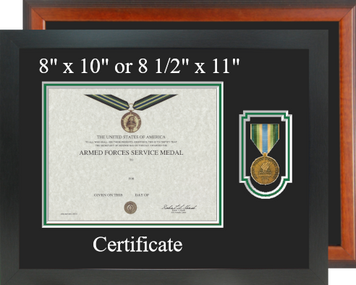 Armed Forces Service Certificate Frame-Horizontal