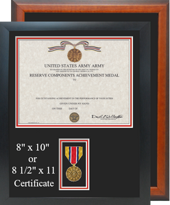 Army Reserve Components Achievement Certificate Frame