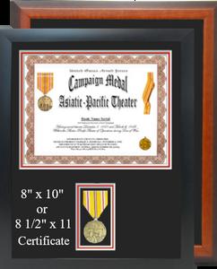 Asiatic Pacific Campaign Certificate Frame