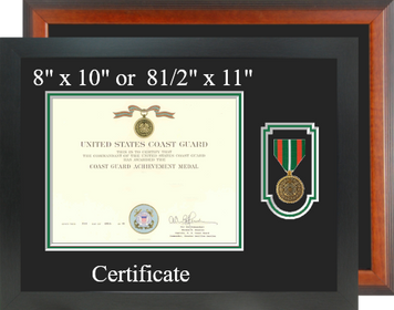 Coast Guard Achievement Certificate Frame-Horizontal