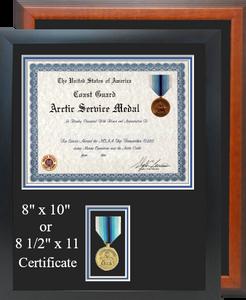 Coast Guard Arctic Service Certificate Frame