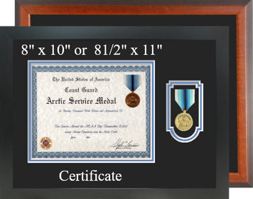 Coast Guard Arctic Service Certificate Frame-Horizontal