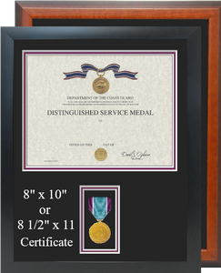 Coast Guard Distinguished Service Certificate Frame